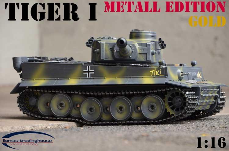 rc panzer tiki tiger 1 fr he version metall edition gold taigen ebay. Black Bedroom Furniture Sets. Home Design Ideas